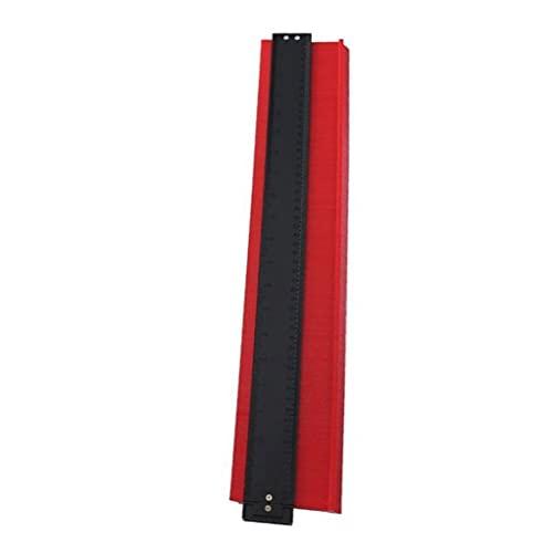 YepYes Duplicador de Perfil de Calibre de Contorno 20 Pulgadas Medir Plantilla de Regla Formas Irregulares para azulejo de Madera roja