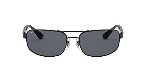 Living Edition GmbH [Apparel Ray-Ban Unisex RB3445 Sonnenbrille, Schwarz (Gestell: Schwarz, Gläser: Polarized Grau Klassisch 006/P2), X-Large (Herstellergröße: 61)