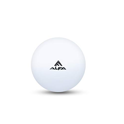 ALFA Hockey Turf Ball Plain Hollow (White, Pack of 6)