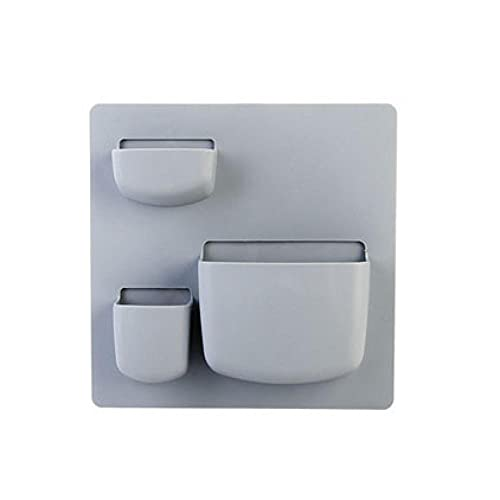 Hogar-Tipo de Pared Estante de Pared Baño Almacenamiento de Pared Rack Perforación Libre Muro Estante Colgante Estante Organizador de Cocina-Azul Claro_B