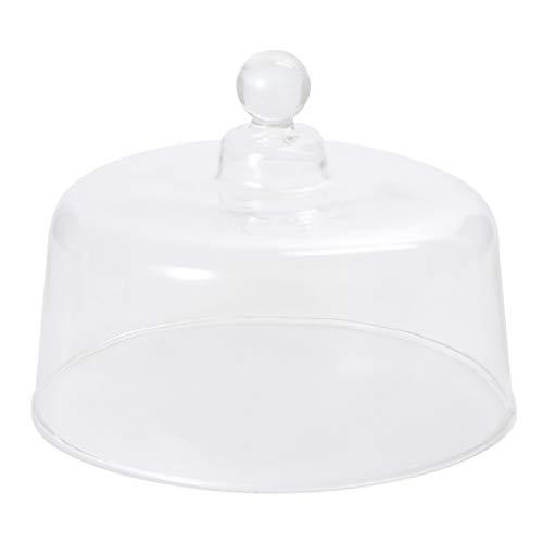 DOITOOL Glasabdeckung für Lebensmittel, 20 cm Durchmesser, runde Kuchenglocke, Glasglocke, transparent, für Snacks, Kuchen, Desserts, Sukkulenten, Andenken