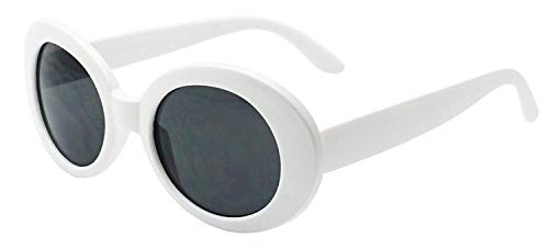 MOD Style Oval Glasses White