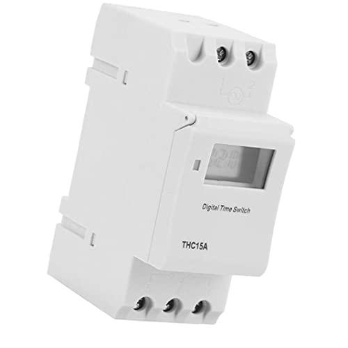 Temporizador programable de tren THC15A 220-240VAC Interruptor de temporizador de LCD digital para dispositivos automáticos