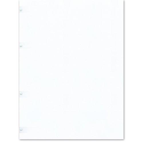Semikolon (353092) Fotokarton 4 fach gelocht ivory (roh-weiß) - Geeignet für Foto-Ordner 4 Ring - 20 Blatt im Format 23 x 29,5 cm