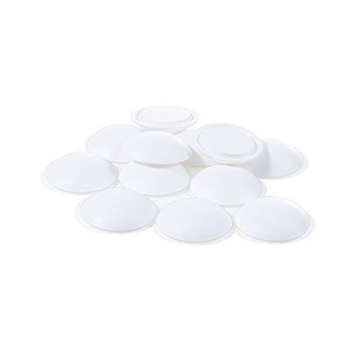 12 x sossai® selbstklebender Türpuffer   Spot White   Durchmesser 40 mm   Farbe: Weiß   Wandschutz für Türklinke   Wandpuffer