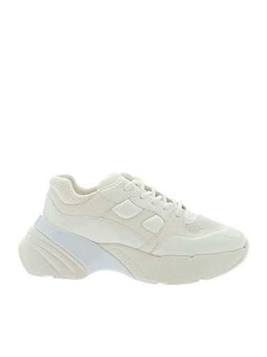 Pinko Rubino 1, Zapatillas sin Cordones para Mujer, Blanco (Bianco Brillante Z04), 35 EU