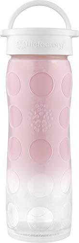 Lifefactory Glas-Flasche mit Active Flip Cap, Ombre, Pink, 16oz/475ml
