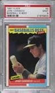 Jose Canseco Graded PSA 9 MINT (Baseball Card) 1987 Fleer Baseball's Best Sluggers vs. Pitchers - Box Set [Base] #8