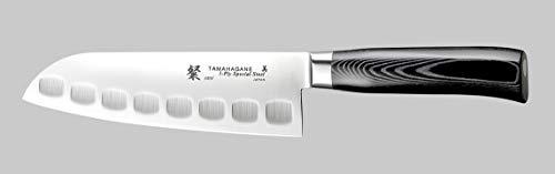 Tamahagane Tsubame Mikarta - Coltello Santoku, in acciaio INOX, 17,8 cm