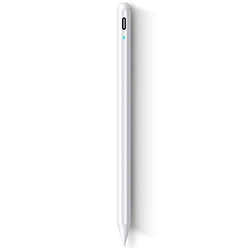 SOCLL Stylus Pen 2nd Gen Pro for iPad 2018-2020,Palm Rejection,Upgraded Drawing Pencil Tip,Magnetically Attaches to iPad Pro 11/12.9(3/4),Compatible with iPad 6th/7th/Air 3/4th/Mini5,White