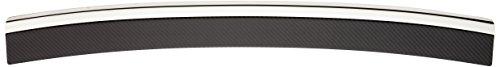 Avisa Protection de seuil arrière inox 'Deluxe' compatible avec Volkswagen Golf VII HB 3/5-portes 2012- Chromé/Carboné noir