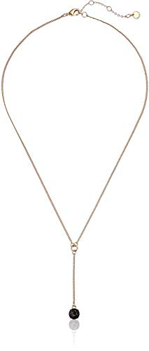 French Connection Stone Y Necklace, Black Diamond, One Size