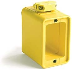 Woodhead 3050 Super Safeway Multiple Outlet Box Yellow Dual Sided Mounting Box with Standard product image