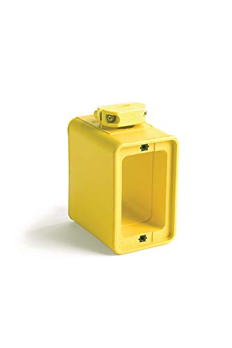 Woodhead 3050 Super-Safeway Multiple Outlet Box - Yellow, Dual Sided Mounting Box with Standard Depth, C-Clamp, Box Only