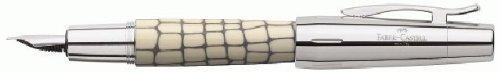 Faber-Castell E-Motion–Pluma estilográfica, ancho de trazo F resina marfil sintética Croco (importado de Alemania)