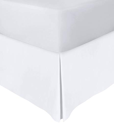 Utopia Bedding Bed Skirt - Soft Quadruple Pleated Dust Ruffle - Easy Fit with 16 Inch Tailored Drop - Hotel Quality, Shrinkage and Fade Resistant (Queen, White)