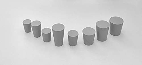 Dugo - Konische Gummistopfen, Pfropfen aus Naturkautschuk - Vollgummi - 6Stück (ø20mm x ø13mm x L.35mm)