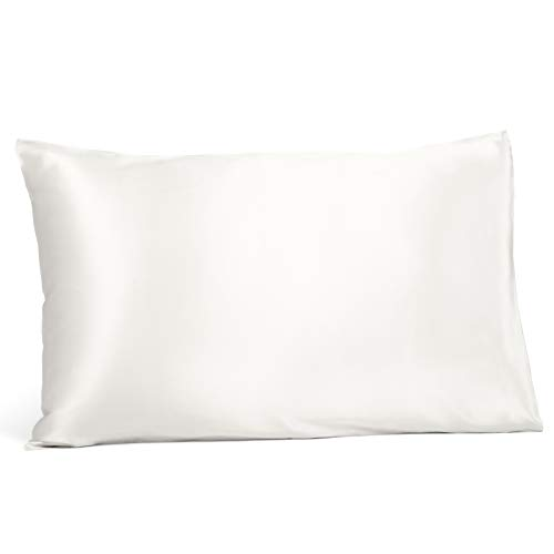 Fishers Finery 25mm 100% Pure Mulberry Silk Pillowcase, Good Housekeeping Winner (White, Queen)