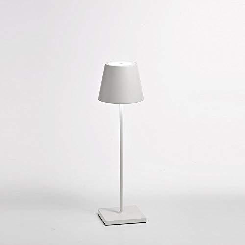 Zafferano Poldina lámpara de mesa portátil y recargable blanca