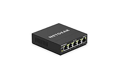 NETGEAR Switch Ethernet de 5 puertos GS305E, switch Gigabit Smart Plus, hub Ethernet metálico de sobremesa