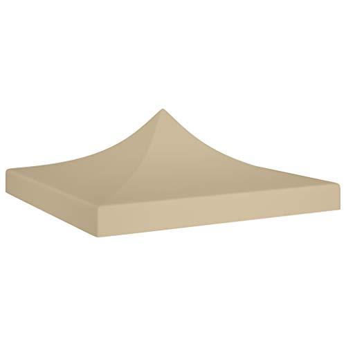 vidaXL Partyzelt Dach UV-beständig Wasserbeständig Ersatzdach Dachplane Zeltdach Ersatz Dach Plane für Gartenzelt Pavillon 2x2m Beige 270g/m²