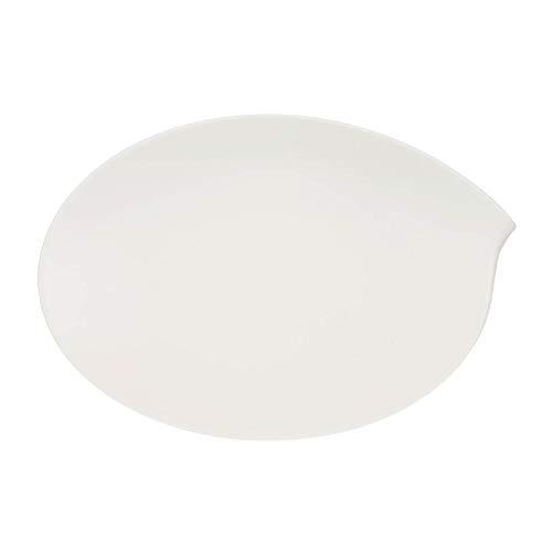 Villeroy & Boch Flow Plat de service ovale, 36 cm, Porcelaine Premium, Blanc