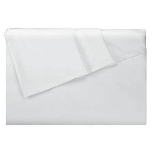 Lirex Bettlaken, Full-Größe Hochwertige, Extra Weiche, Gebürstete Mikrofaser Flaches Blatt, Maschinenwäsche, Faltenfrei - Weiß