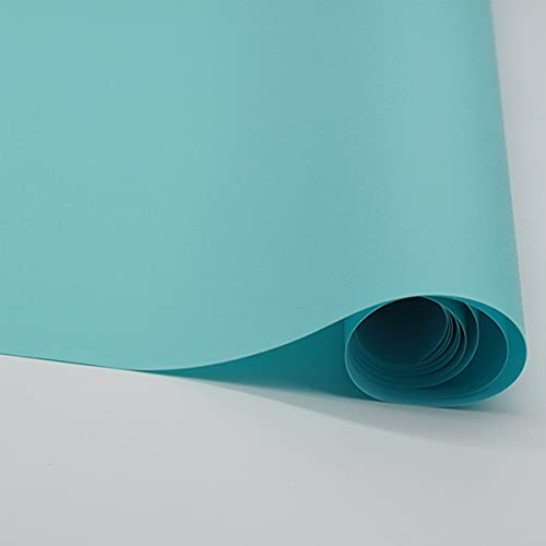 LEISHENT Shelf Liner Waterproof and Non-Slip Durable and Strong Easy to Clean Washable for Desk,Kitchen,Food Storage Rack,Light Blue,0.45x15m