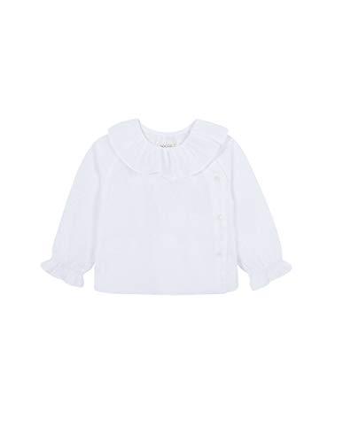 Gocco Camisa PLUMETI Blusa, Blanco (Blanco WA), 86 (Tamaño del Fabricante:12/18) para Bebés