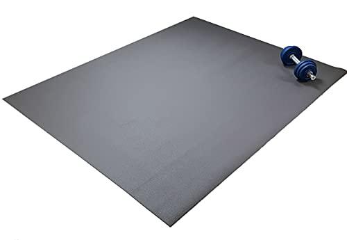 Q324 Lush die extra große Fitnessmatte - 240x150cm rutschfeste und robuste Trainingsmatte - Yogamatte - Sportmatte -Gymnastikmatte - Öko-Tex Zertifiziert - Braun