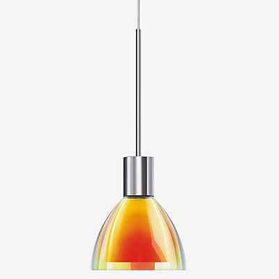 Bruck Silva Pendelleuchte LED - ø11 cm, schwarz, Glas gelb/orange