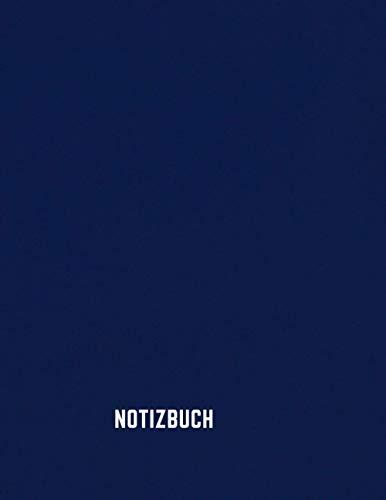 Notizbuch: Notizbuch A4 Kariert 120 Seiten | blaues Softcover | 8.5×11 Zoll