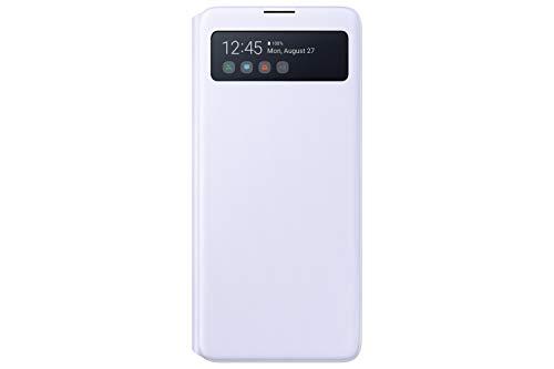 Samsung S View Smartphone Cover EF-EN770 für Galaxy Note10 Lite, Handy-Hülle, stoßfest, Schutz Hülle, integriertes Sichtfenster weiß