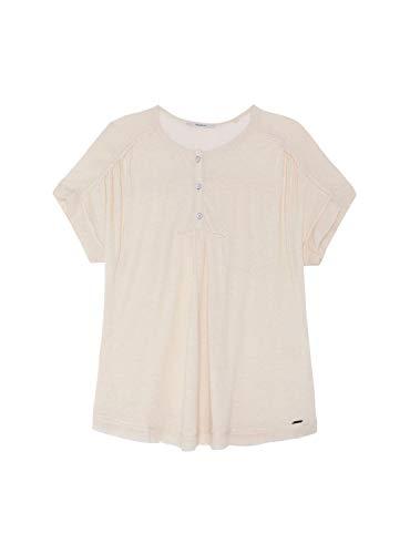 Pepe Jeans Camiseta Fleur Beige Mujer S Beige