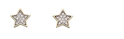 Elemente Gold 9ct Star Diamond Studs Gelbgold