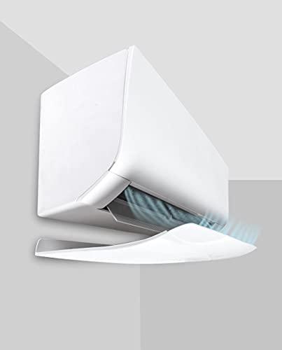 Deflettore condizionatore a split & aria condizionata CLIMIK EXTRA, 80 × 30 × 6 cm, Colore Bianco lucido, Materiale plastica con PANNELLO ANTICONDENSA. Made in Italy