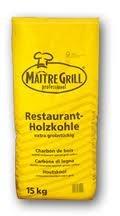 Maitre Grillkohle 15 kg Restaurant Qualität aus Buche Premium grobstückig