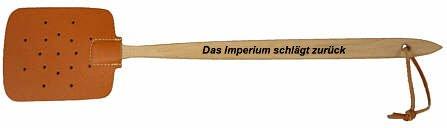 """Fliege Insekten Fliegenklatsche Fliegenfänger Handklatsche \""""Das Imperium schlägt zurück\"""" - 46cm"""