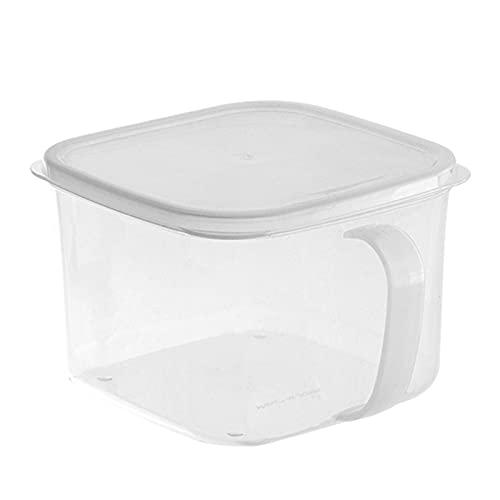 Eternitry Contenedor fresco, Refrigerador del hogar con tapa, Caja de almacenamiento de alimentos de cocina con asa, Caja de almacenamiento transparente para tarro sellado multigrain