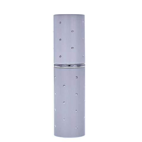 Qualité essentielle 8ml Argent Dot Fragrance Fragrance Sac à main/atomiseur Voyage, Rechargeable, Avec Entonnoir