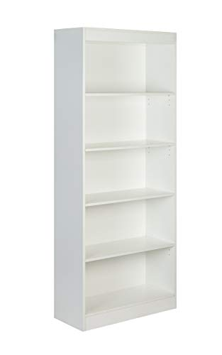 OneSpace Essentials 5-Tier Bookshelf White