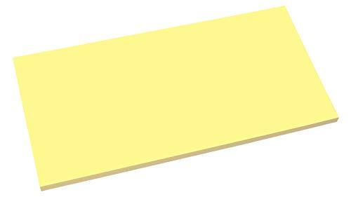 SIGEL MU133 Static Notes für agiles Arbeiten, statisch haftend ohne Klebstoff, wie magnetisch, gelb, 10x20 cm, 100 Blatt