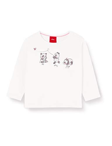 s.Oliver Junior 405.10.002.12.130.2022469 T-Shirt, Baby - Mädchen, Beige 92 EU