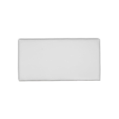 Ventadecolchones - Cabecero Modelo Lisse tapizado en Tela Antimanchas Essence Gris Perla Medidas 91 x 70 cm (para Camas de 80 ó 90 cm)