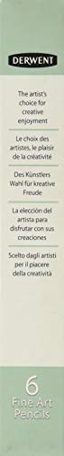 Derwent 水溶性色鉛筆 グラフィティント スティールブルー 06 ケース6本 0700782 ばら売り 単色 ワックスベース(グラファイト含有) 耐光性100% 芯径4mm 風景画 動物画 肖像画 グラファイト鉛筆
