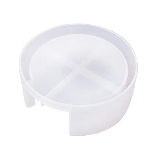 Minear Moule en résine, moule à sous-verre ou dessous de verre support de rangement moule en silicone époxy moule pour textiles de maison DIY Craft