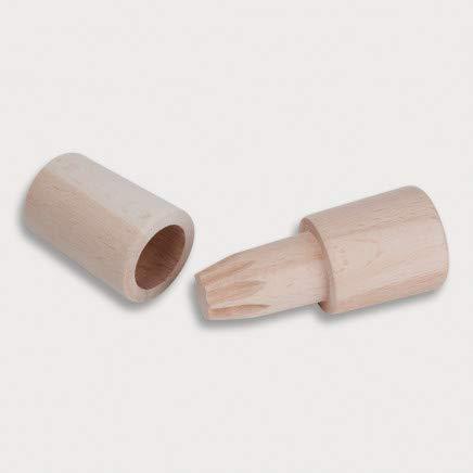 HOFMEISTER® Handmühle aus Holz, Zerkleinern von Salz, Kräuter, Pfeffer oder Gewürze, handliche Mühle mit Mahlwerk aus Buchenholz, Mörser aus 100% EU Produktion