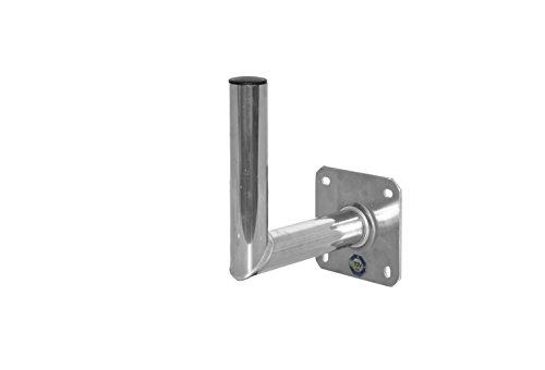 A.S.Sat Wandhalter Aluminium Edelstahloptik 25 cm TÜV geprüft