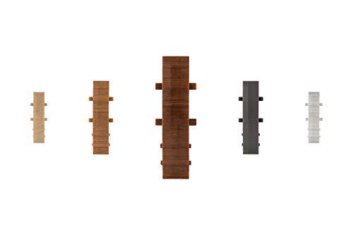 LEMAL Verbinder, PVC 60x15mm - Zubehör für Sockelleisten mit Kabelkanal - (8649 Holzoptik Birne, 1 Stück) Laminat Abschluss Bodenbelag