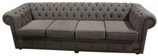 Designer Sofas4u Chesterfield 4 plazas sofás Verity Plain ...